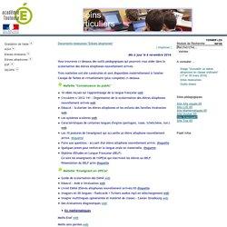 "Documents ressources ""Elèves allophones"""