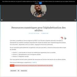 Ressources numériques pour l'alphabétisation des adultes – Sylvain DENIS