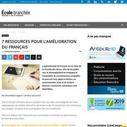 7 ressources pour l'amélioration du français