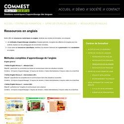 Ressources en anglais - Commest Multimédia