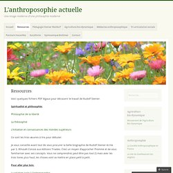 L'anthroposophie actuelle
