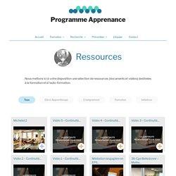 Ressources – Programme de formation Apprenance
