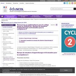 Socle commun - Banque de situations d'apprentissage compétence 3 - ÉduSCOL