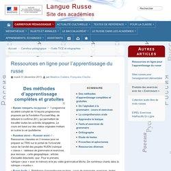 Ressources en ligne pour l'apprentissage du russe - Site Russe des académies