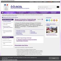 Ressources pour le socle commun - Banque de situations d'apprentissage compétence 3
