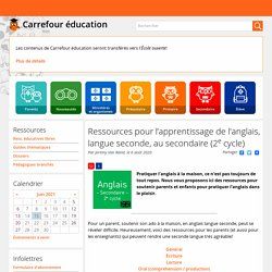 Ressources pour l'apprentissage de l'anglais, langue seconde, au secondaire (2e cycle)