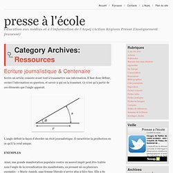 Ressources Archives