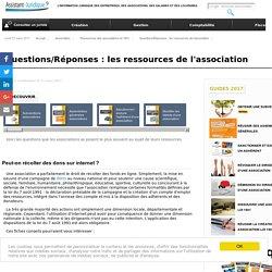 Questions/Réponses : les ressources de l'association