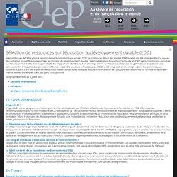 Sélection de ressources sur l'éducation audéveloppement durable (EDD)