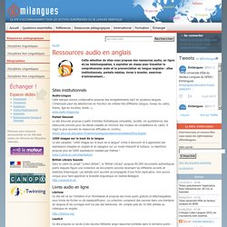 Ressources audio en anglais