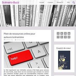 Plein de ressources online pour auteurs/scénaristes