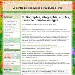 Le centre de ressources de SupAgro Florac : BasesDonnees