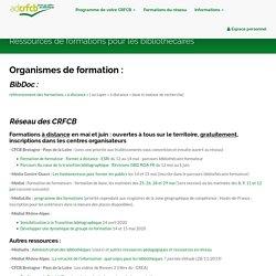 Ressources de formations pour les bibliothécaires - SYGEFOR
