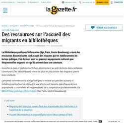 Des ressources sur l'accueil des migrants en bibliothèques