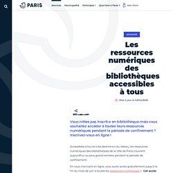Bibliothèquesde la ville de Paris_Les ressources numériques des bibliothèques_Ressources numériques_Ville de Paris