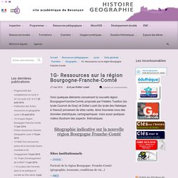 1G- Ressources sur la région Bourgogne-Franche-Comté