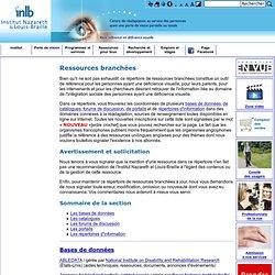 Ressources branchées - Institut Nazareth et Louis-Braille