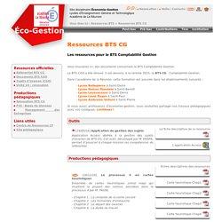 Ressources BTS CG - Éco-Gest Réunion