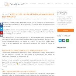 """""""C'est l'fun"""" les ressources canadiennes en français !"""