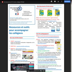 Ressources profs du CIO Cannes