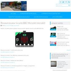 Ressources pour la carte BBC Micro:bit (microbit)