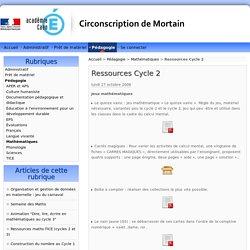 Ressources Cycle 2 - Circonscription de Mortain