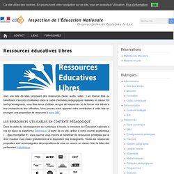 Ressources éducatives libres – Circonscription de Castelnau-le-Lez