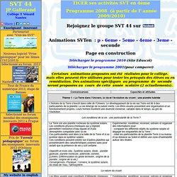 ressources pour la classe de seconde (2nde) en svt