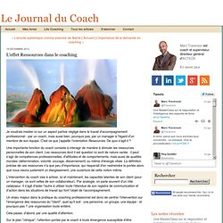 L'effet Ressources dans le coaching
