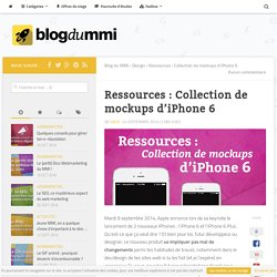Ressources : Collection de mockups d'iPhone 6