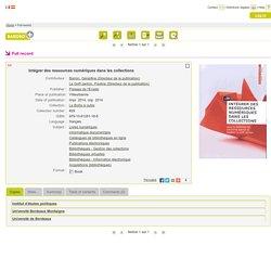 Intégrer des ressources numériques dans les collections