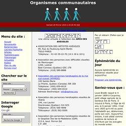 Guide de ressources en déficience visuelle - Organismes communautaires