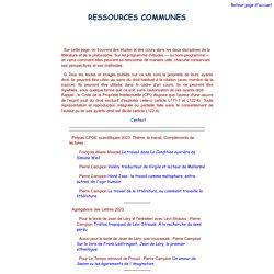 Ressources communes