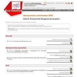 Ressources communes BTS - Éco-Gest Réunion