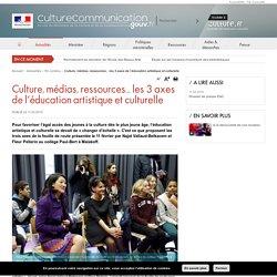 Culture, médias, ressources... les 3 axes de l'éducation artistique et culturelle