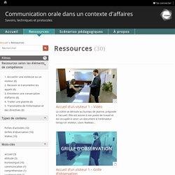 Communication orale dans un contexte d'affaires