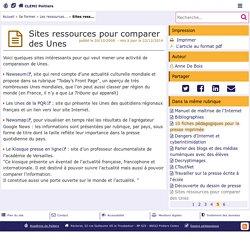 Sites ressources pour comparer des Unes - CLEMI Poitiers
