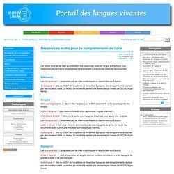 Ressources audio pour la compréhension de l'oral - Académie de Limoges : Langues Vivantes