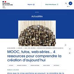 MOOC, tutos, web-séries... 4 ressources pour comprendre la création d'aujourd'hui
