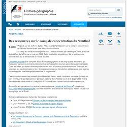 Des ressources sur le camp de concentration du Struthof-Histoire-géographie-Éduscol