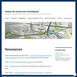 Ressources – Chaire de recherche contributive