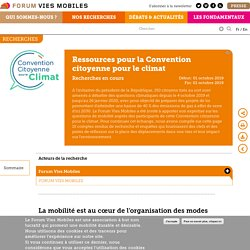Ressources pour la Convention citoyenne pour le climat