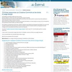 70 fiches ressources sur Creative Commons et les droits d'usage élargis - @ Brest-Mozilla Firefox