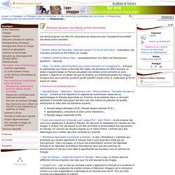 Ressources pour les élèves primo-arrivants- Pédagogie - Direction des services départementaux de l'éducation nationale du 79