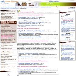 Ressources pour un TBI- Pédagogie - Direction des services départementaux de l'éducation nationale du 79