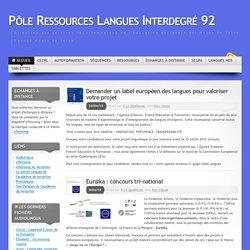 Pôle Ressources Langues Interdegré 92 « Direction des Services Départementaux de l'Education Nationale des Hauts-de-Seine Canopé Hauts de Seine