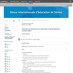 Sélection de ressources sur l'éducation au développement durable (EDD)