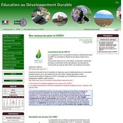 Des ressources pour la COP21 - Éducation au Développement Durable (EDD)