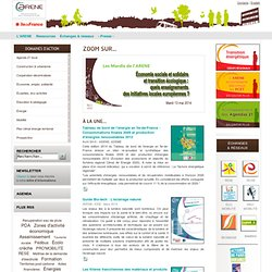 ARENE Expertise et ressources pour un développement durable