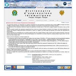 CNRTL : Centre National de Ressources Textuelles et Lexicales - Dictionnaire Français-Portugais